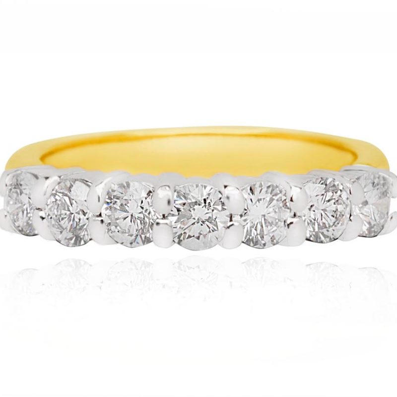 Nora diamond yellow gold ring