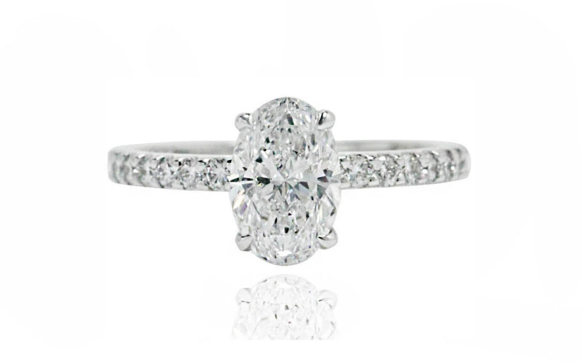 Olivia oval 18CT Cut white gold diamond engagement ring