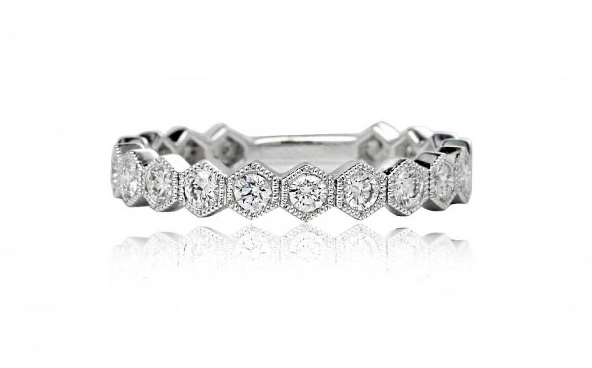 Platinum Custom made Diamond Band