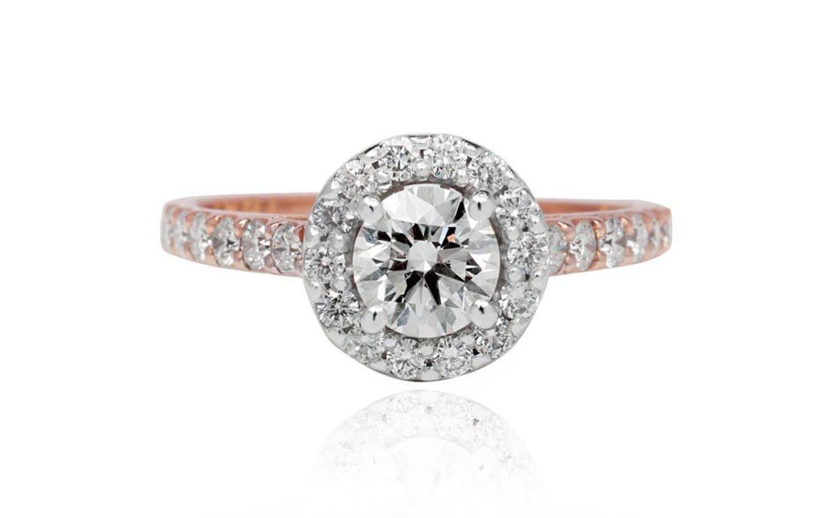 Rosi rose gold diamond engagement ring