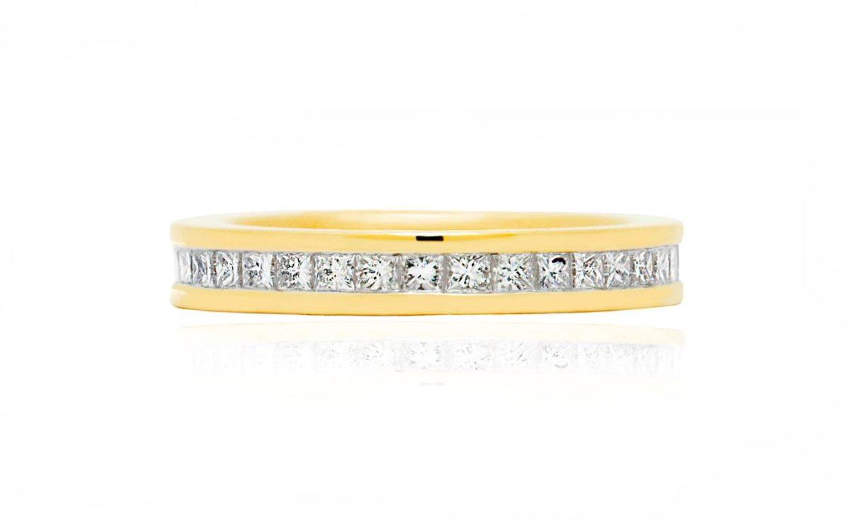 Riley yellow gold diamond engagement ring