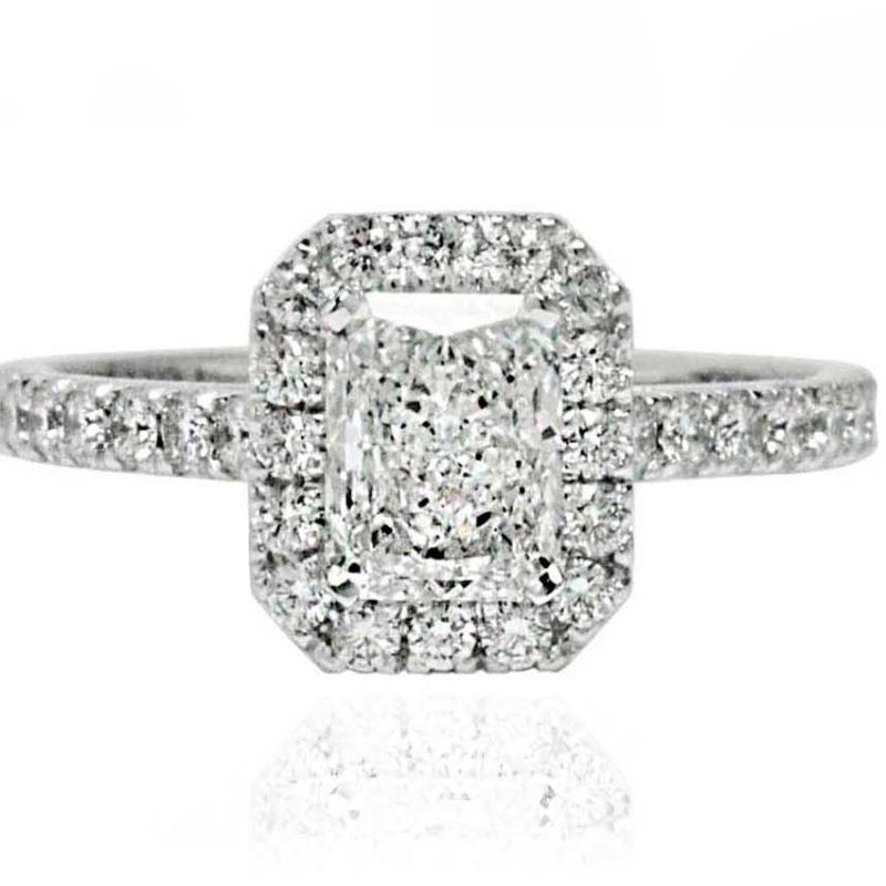 Skyler white gold diamond engagement ring