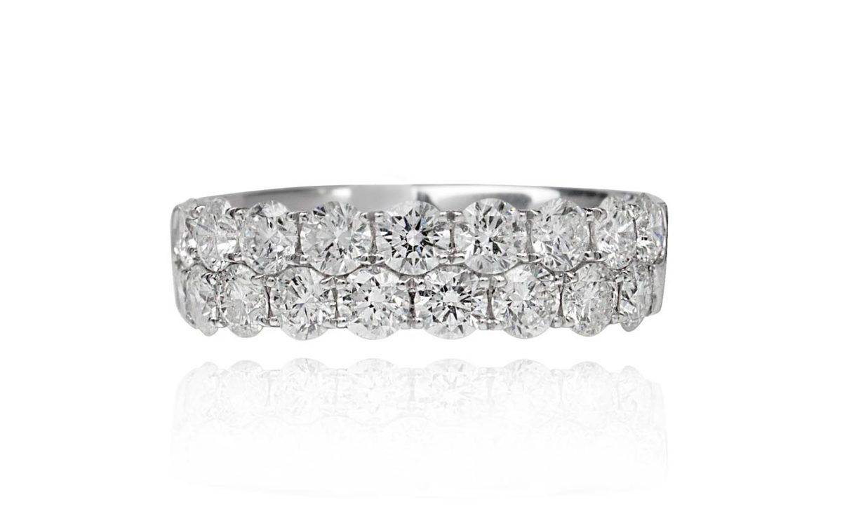 Tess diamond white gold ring