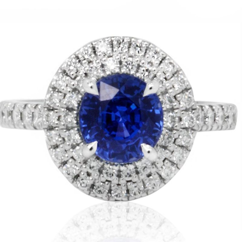Willa white gold ring with sapphire