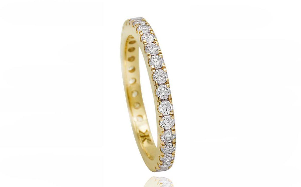 Zinnia yellow gold ring