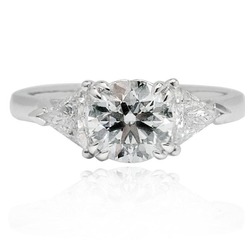 Lia white gold diamond engagement ring